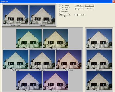 Photoshop : les variantes, outil de retouche pour les débutants